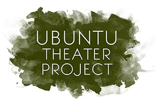 The logo of the Oakland-based Ubuntu Theater Project features the name of their company in sans serif font on a painterly olive green background.